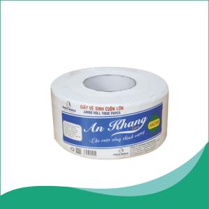Giấy vệ sinh cuộn lớn An Khang Caro500