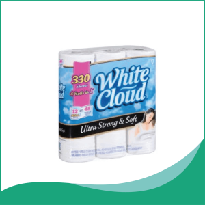 Giấy Vệ Sinh White Cloud 3 Lớp Ultra Strong & Soft